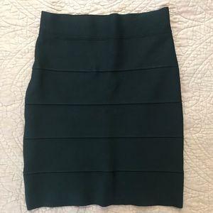 BCBGMAXAZARIA Simone Textured Power Skirt